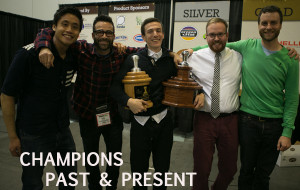 National Champions from left to right: Jeremy Ho 2012, Rob Kettener 2010, Benjamin Put 2013, Josh Hockin 2011, Kyle Straw 2009